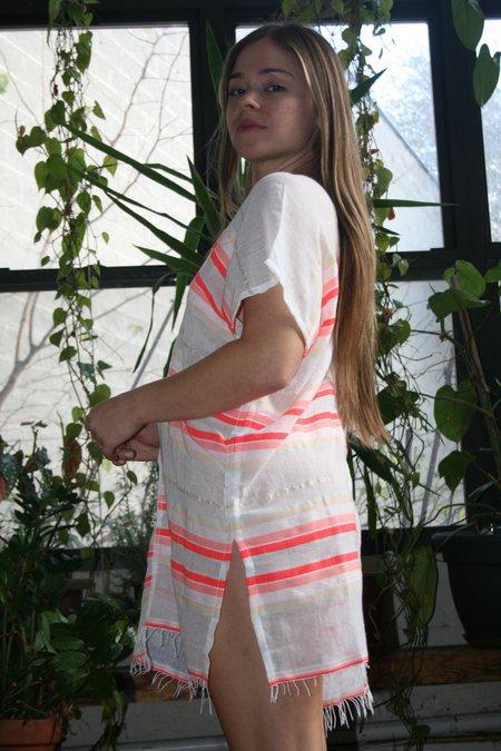 LEMLEM Fiesta Tunic Coverup - Orange Stripe