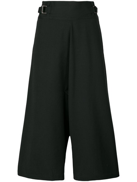 132 5. ISSEY MIYAKE Cropped Wide Leg Trousers - black
