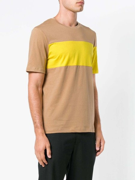 HELMUT LANG Band Logo T-shirt - Beige/Yellow