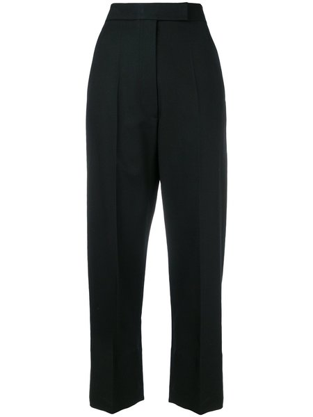 HELMUT LANG High Waist Canvas Pants - black