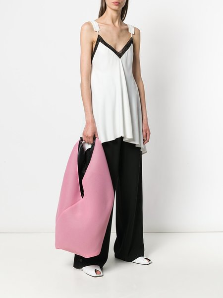 MM6 by Maison Margiela Big Triangle Handle Tote Bag - Pink