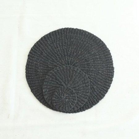 INNÉ Studios Abaca Round Placemat (Set of 4) - Black