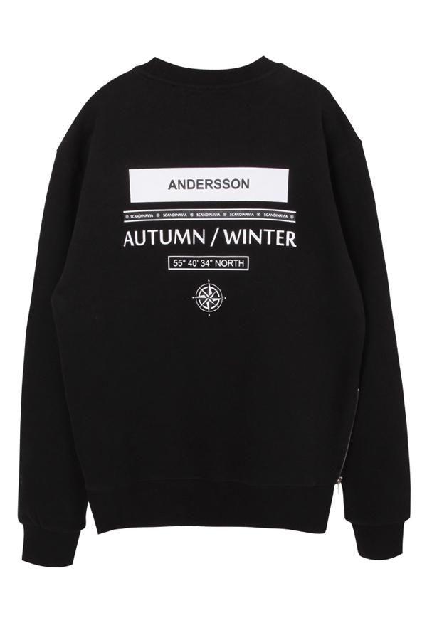 ANDERSSON BELL Unisex City Coordinates Sweatshirt- Black