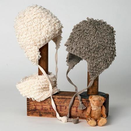 KIDS Tane Organics Baby Crochet Looped Hat - Ecru Cream