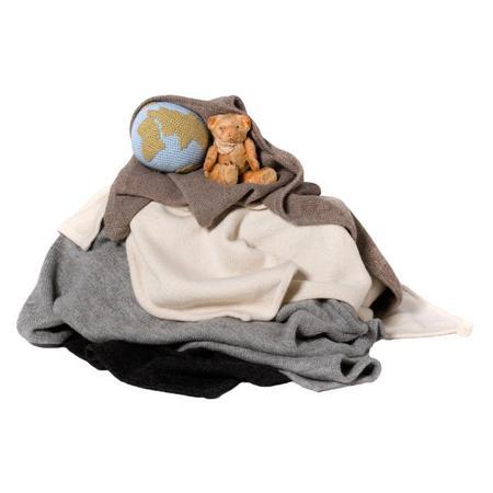 KIDS Tane Organics Blanket With Hood - Frost Grey