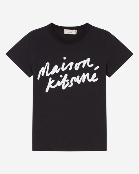 Maison Kitsune Handwriting Tee - Black