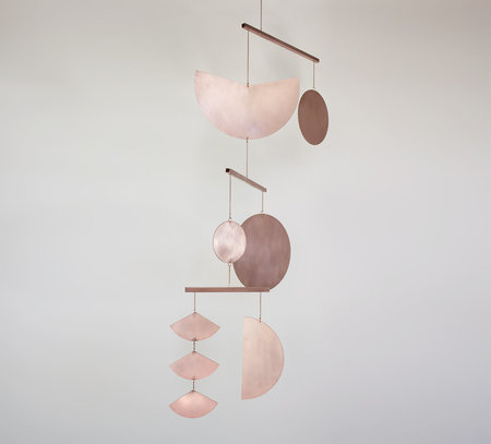 Circle and Line one of a kind Mobile No. 20 - copper