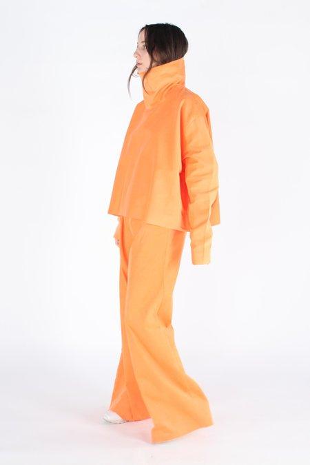 Ashley Rowe Turtleneck - Orange Corduroy