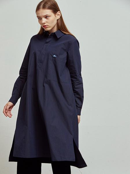 HOMFEM Nuee Long Tunic Dress - Navy