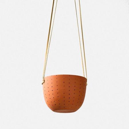 Pigeon Toe Ceramics Perforated Hanging Planter - Terracotta