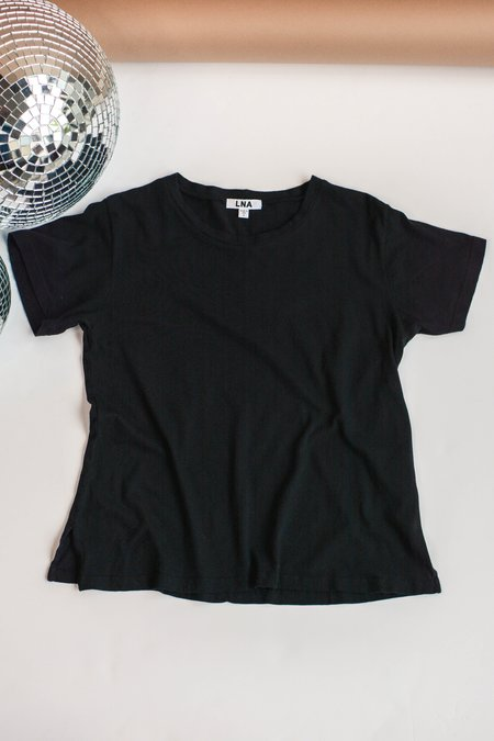 LNA Essential Cotton Mason Crew Tee - Black