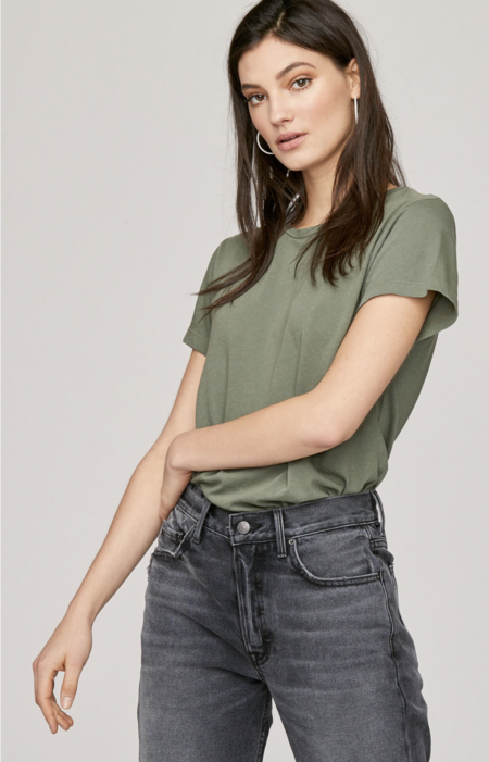 LNA Essential Cotton Mason Crew Tee - Military Green