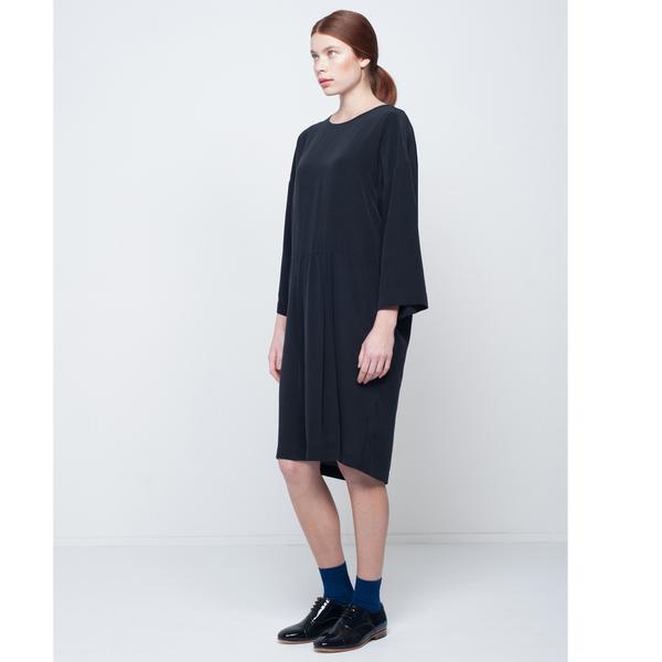 First Rite Washed Silk Tunic Dress