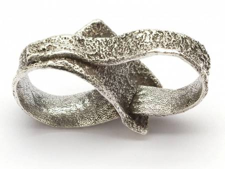 Alice Waese Medium Double Ring - Silver