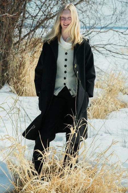Urbanovitch Oversized Wool Coat - Black