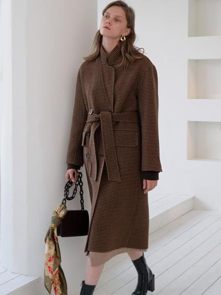 GROVE Hand Made Sister Coat - Brown Check