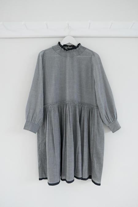 Karu Khadi Cotton Poet Dress - Grey