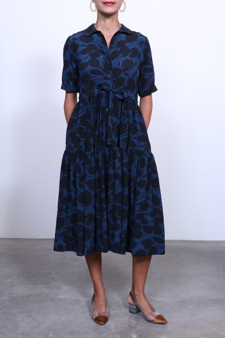 No.6 Cather Dress - Black/Navy Tulip