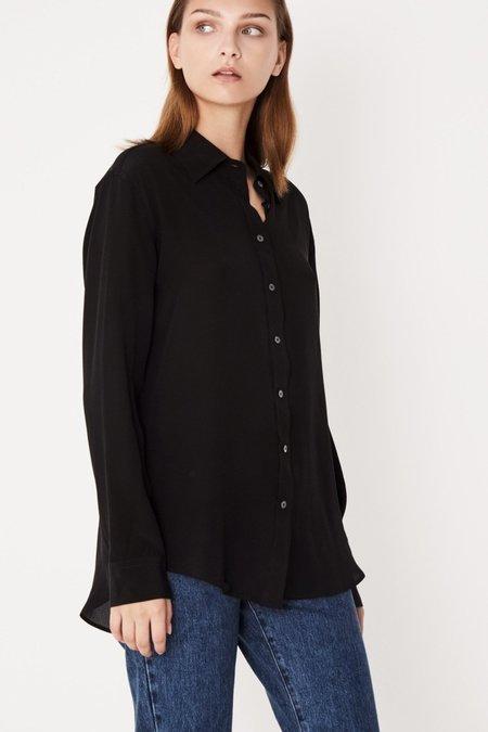 Assembly Label Essential Silk Shirt - Black