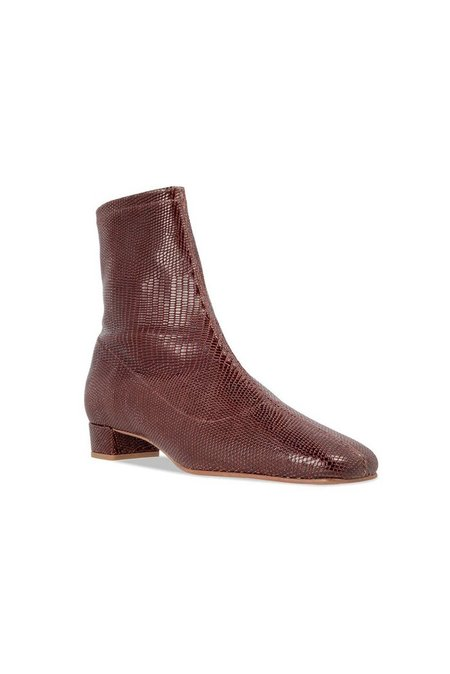 By Far Este Boots Embossed Lizard - Brown