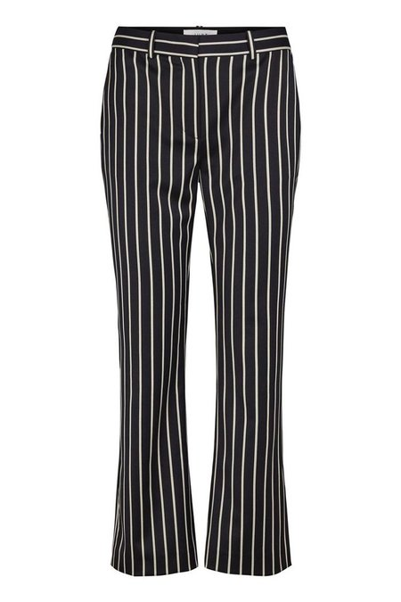 Just Female Laurent Pinstripe Trousers - Navy