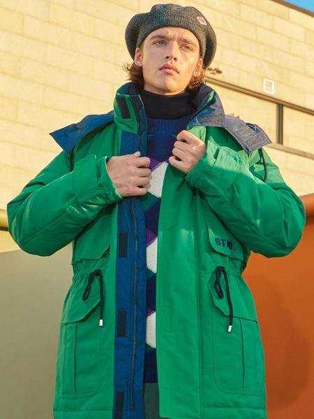 Unisex GENERAL IDEA STANDARD Half Wellon Padding Jumper - Green