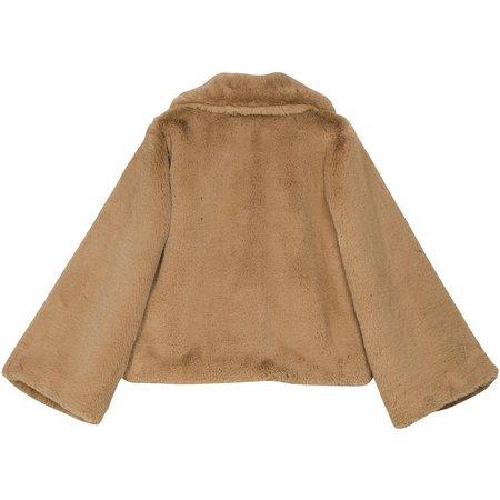 byTiMo Faux Fur Jacket - CAMEL