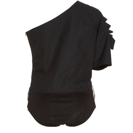 DELFI COLLECTIVE Kai One-Shoulder Bodysuit - BLACK