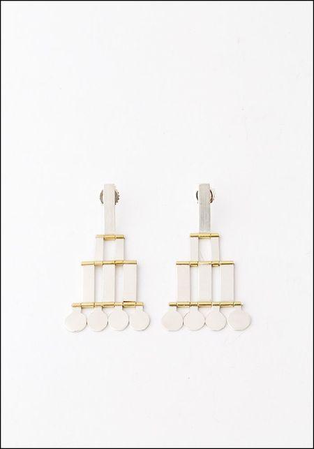 Hannah Keefe Silver Brass Droplet Earrings
