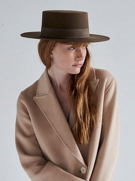 Janessa Leone Lenny Bolero Hat - Camel