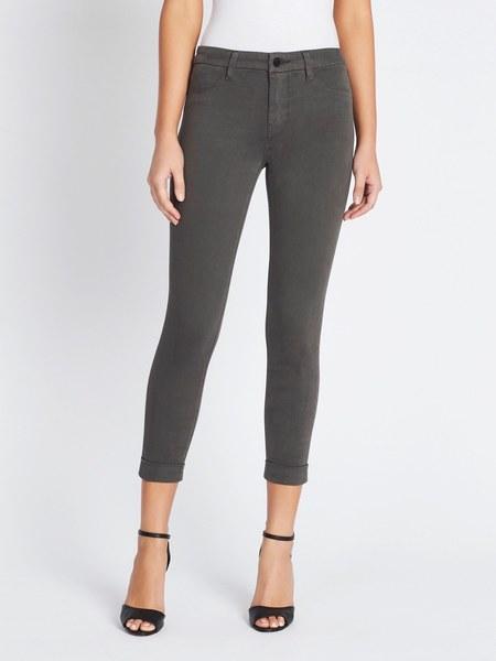 J Brand Anja Mid Rise Cuffed Crop Pant - Future