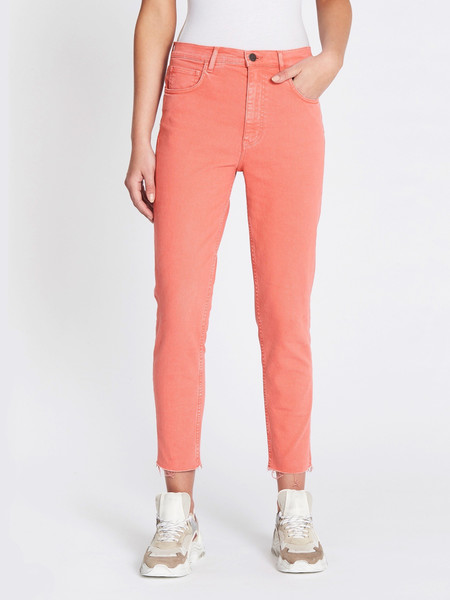 MiH Jeans Mimi High Rise Vintage Straight Leg Jeans - Rosa