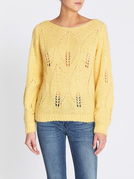 MiH Jeans Lacey Sweater - Lemondrop