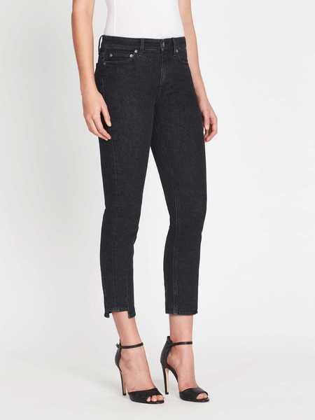 MiH Jeans Niki Jean - Black Skew