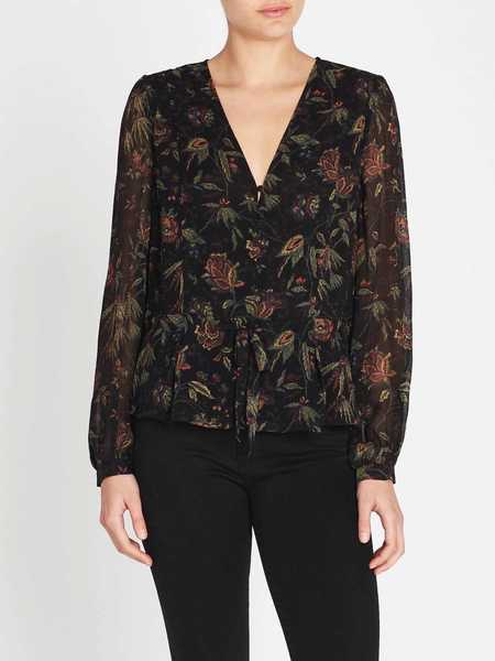 Paige Carmona Blouse - Black/Golden Sky