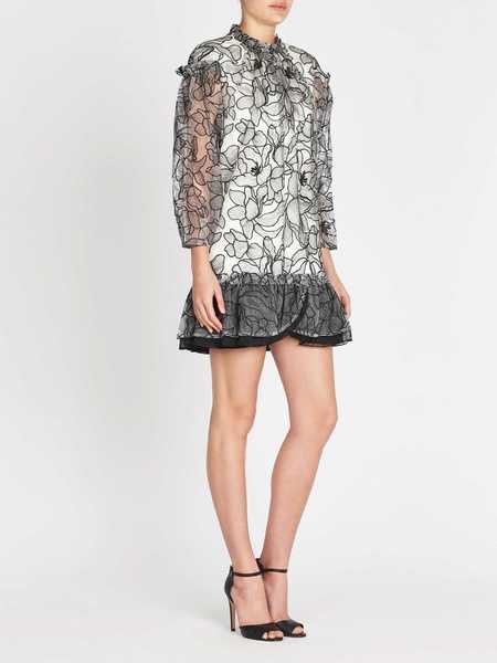 THREE FLOOR Floral Factor Dress - black