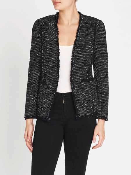 Rebecca Taylor Sparkle Stretch Jacket - Black