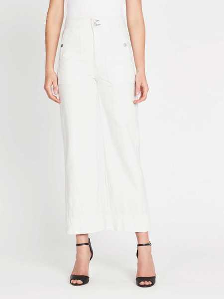 La Vie Rebecca Taylor Drapey Denim Pant - White Out Wash