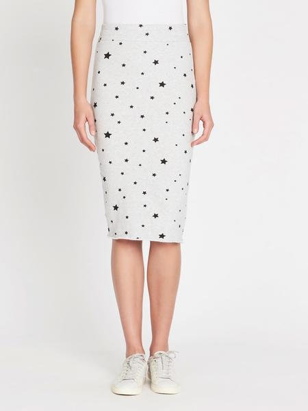Zoe Karssen Stars All Over Slim Fit Tube Skirt - Heather Grey