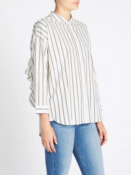 Joie Poni Shirt - Charcoal Stripe Print
