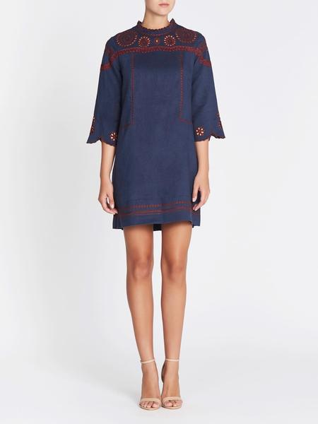 MiH Jeans Linton Dress - Navy/Red