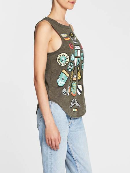Chaser LA Patched Up Tank - Grey