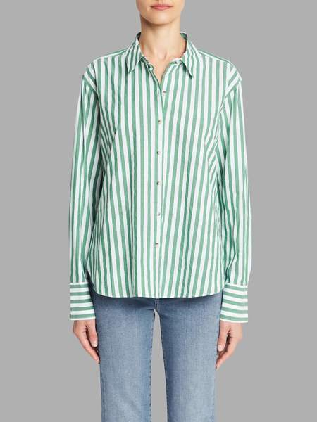 MiH Jeans Mini Oversize Shirt - Portobello Green