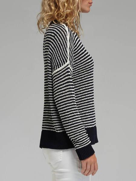 J Brand Alexandria Sweater - Dark Blue/White