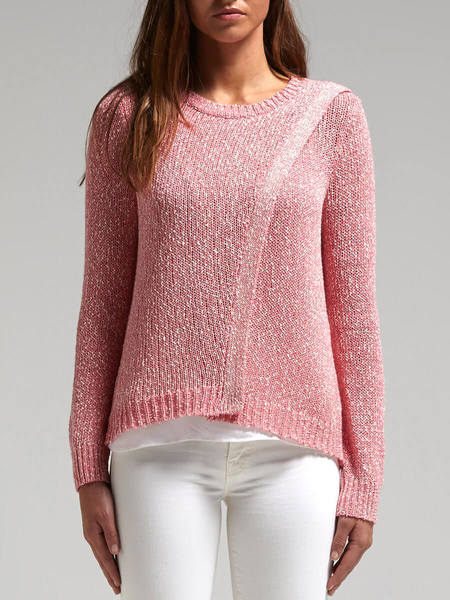 Rebecca Taylor Crossover Knit - Pink/Cream