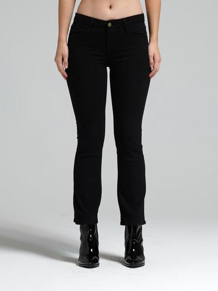 FRAME Denim Le Crop Mini Boot Jeans - Black