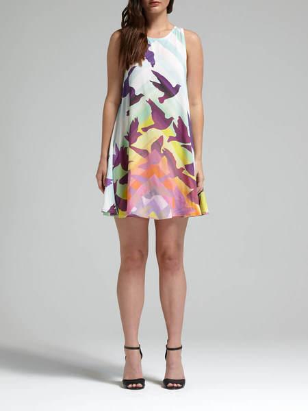 Mara Hoffman Prismatic Swing Dress - Rainbow Prism Print