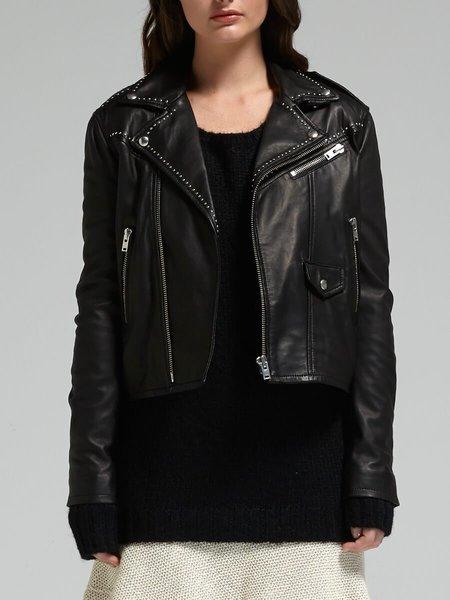 IRO Blondie Stud Leather Jacket - Black