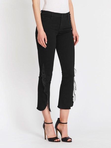 J Brand Selena Mid Rise Crop Boot Jeans - Black