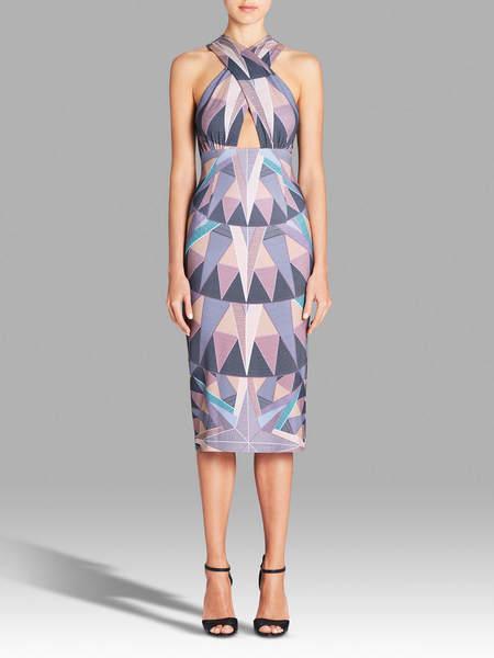 Mara Hoffman Compass Cross Front Dress - Digital Print